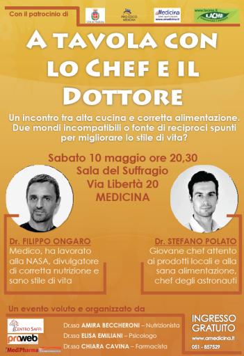 Evento il 10 maggio 2014 a medicina bo dr filippo ongaro - A tavola con lo chef ...